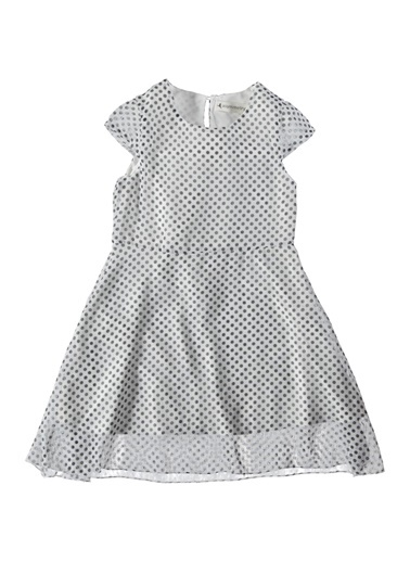 Puaniteyli Şifon Elbise-Asymmetry